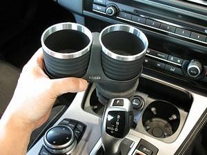 【ALCABO/アルカボ】 ドリンクホルダー ブラック/リング カップ タイプ BMW 5 Series セダン(F10)/ツーリング(F11)/GT(F07)/M5 [AL-B112BS]_画像3