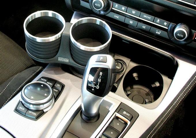 【ALCABO/アルカボ】 ドリンクホルダー ブラック/リング カップ タイプ BMW 5 Series セダン(F10)/ツーリング(F11)/GT(F07)/M5 [AL-B112BS]_画像2