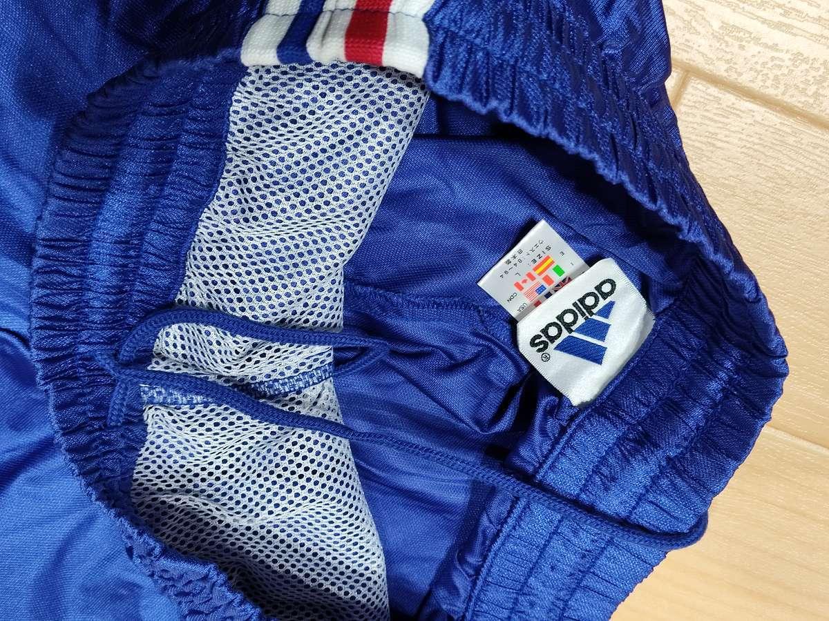 アディダス adidas - サッカー フットサル USED美品 上下SET ウィンドブレーカー 練習着 SIZE:L カラー:青系 かっこいい!_画像8