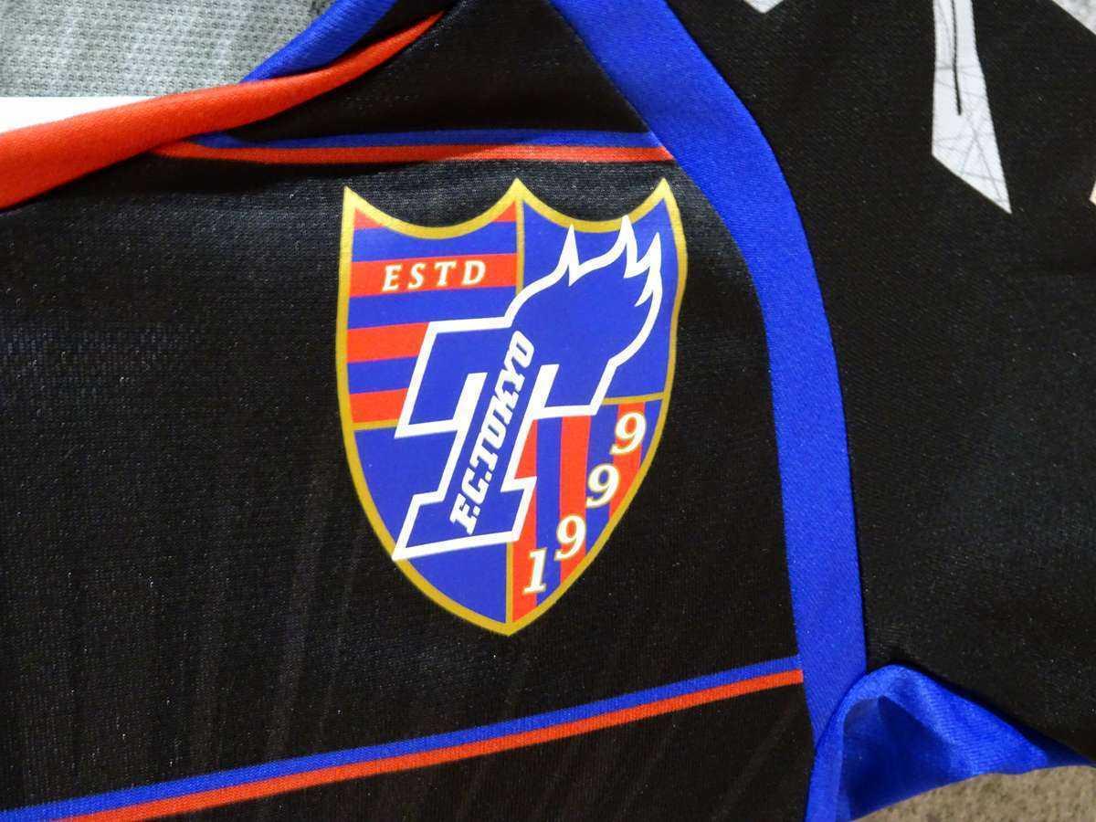 アンブロ UMBRO - サッカー FC東京 USED美品 半袖 ユニフォーム プラクティスシャツ SIZE:120 カラー:黒系 高機能高デザイン_画像6