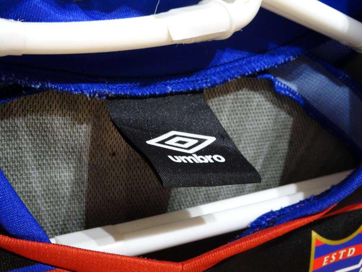 アンブロ UMBRO - サッカー FC東京 USED美品 半袖 ユニフォーム プラクティスシャツ SIZE:120 カラー:黒系 高機能高デザイン_画像8