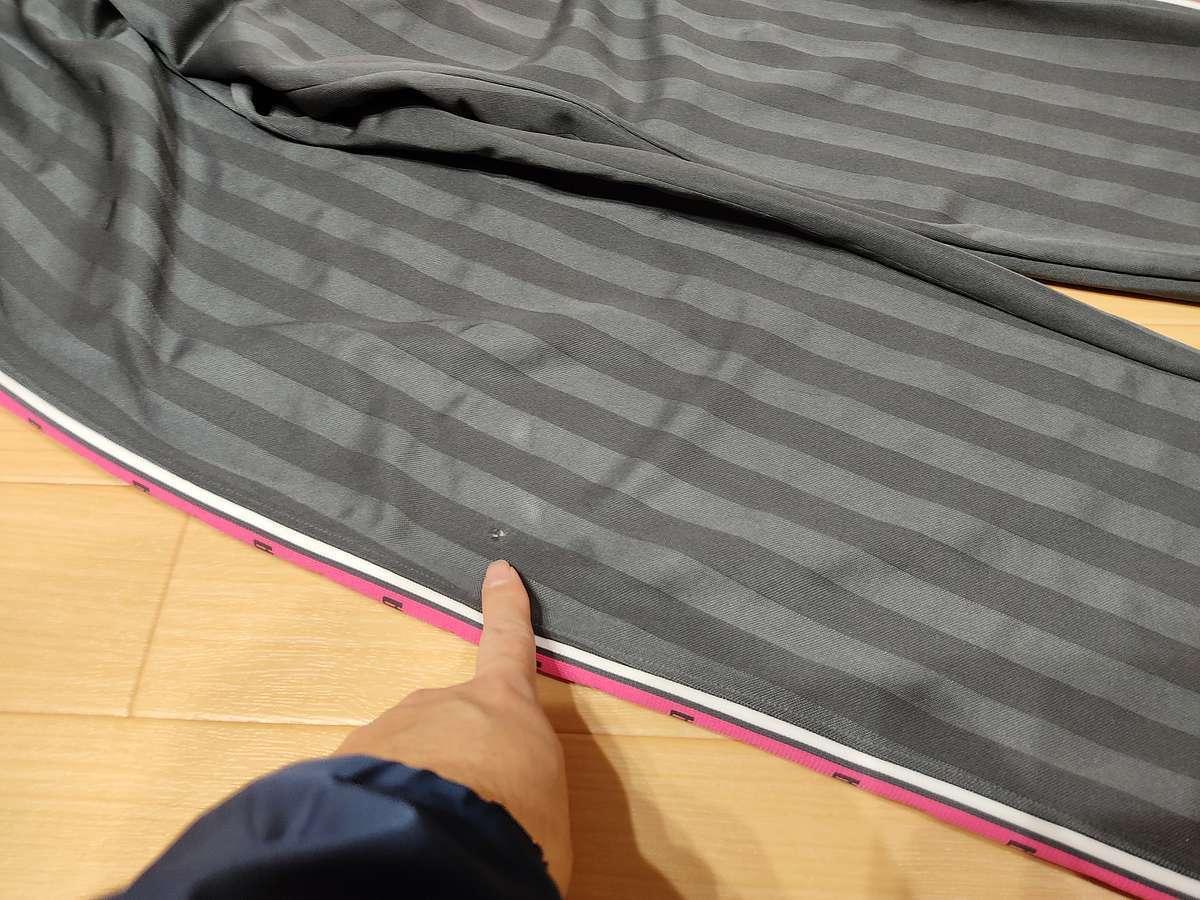 プーマ PUMA - サッカー フットサル USED ボトムス ジャージ 練習着 SIZE:M カラー:グレー/ピンク プージャーです_画像2