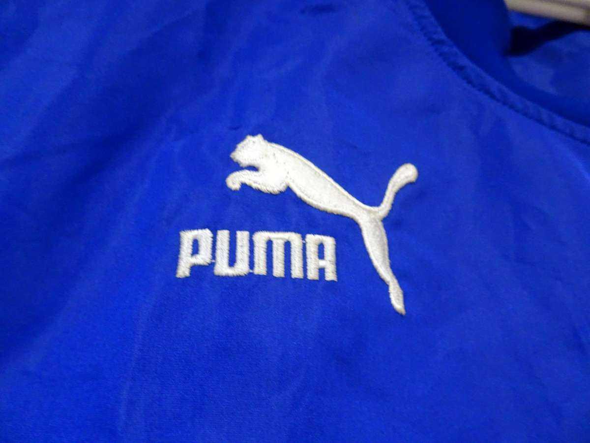 プーマ PUMA - サッカー フットサル USED美品 長袖 一枚生地ピステ 練習着 SIZE:XO カラー:青系 高機能高デザイン_画像5