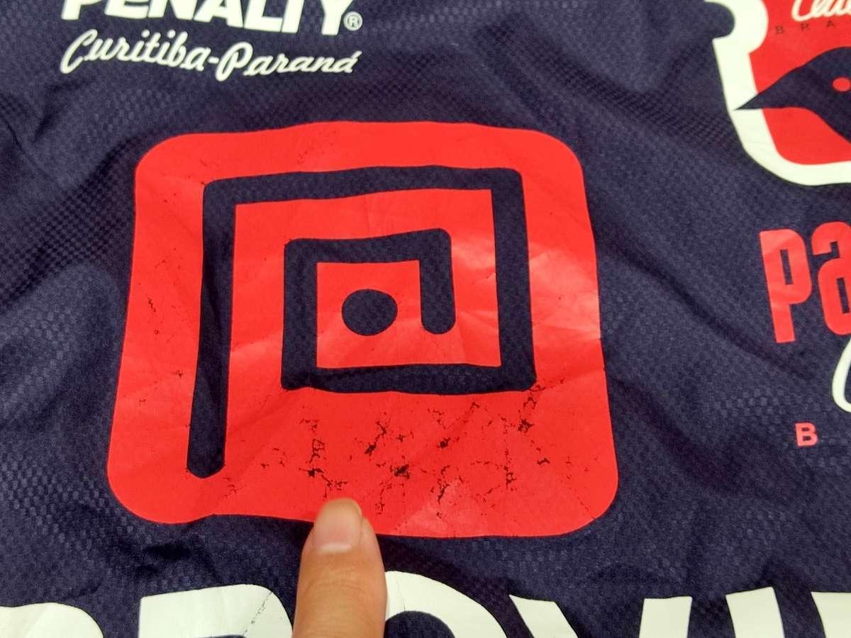 ペナルティ PENALTY - サッカー フットサル USED 長袖 一枚生地ピステ ウィンドブレーカー SIZE:L-O カラー:ネイビー/赤 高機能高デザイン_画像4