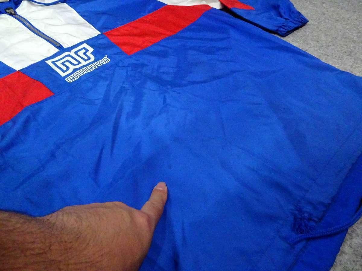 エネーレ ennerre サッカー フットサル USED傷あり 長袖 一枚生地ピステ 普段着 SIZE:L カラー:青系 高機能高デザイン_画像6