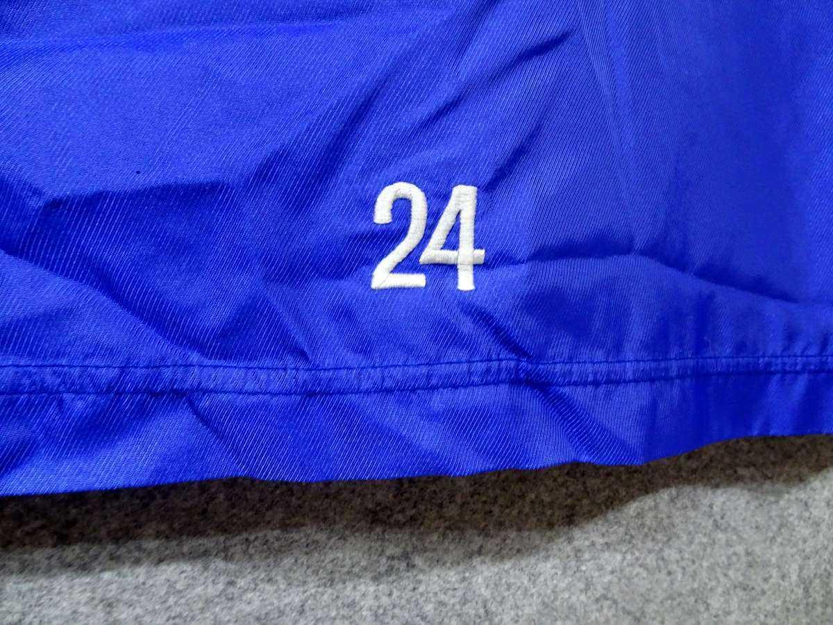DELLERBA - サッカー フットサル USED 上のみ 一枚生地ピステ ウィンドブレーカー SIZE:L カラー:青系 高機能高デザイン_画像5
