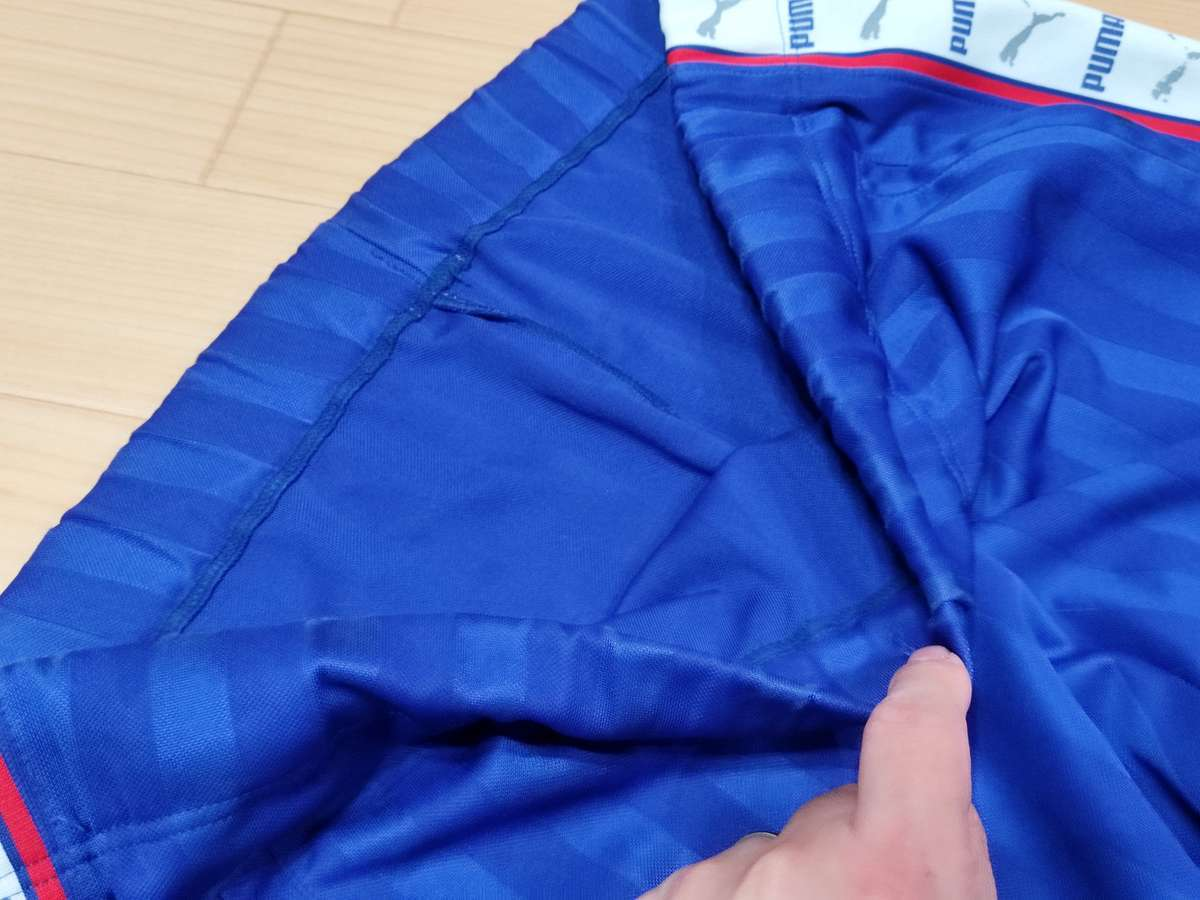 プーマ PUMA - サッカー フットサル USED ボトムス ジャージ ボトムス SIZE:M カラー:青系 高機能高デザイン_画像2