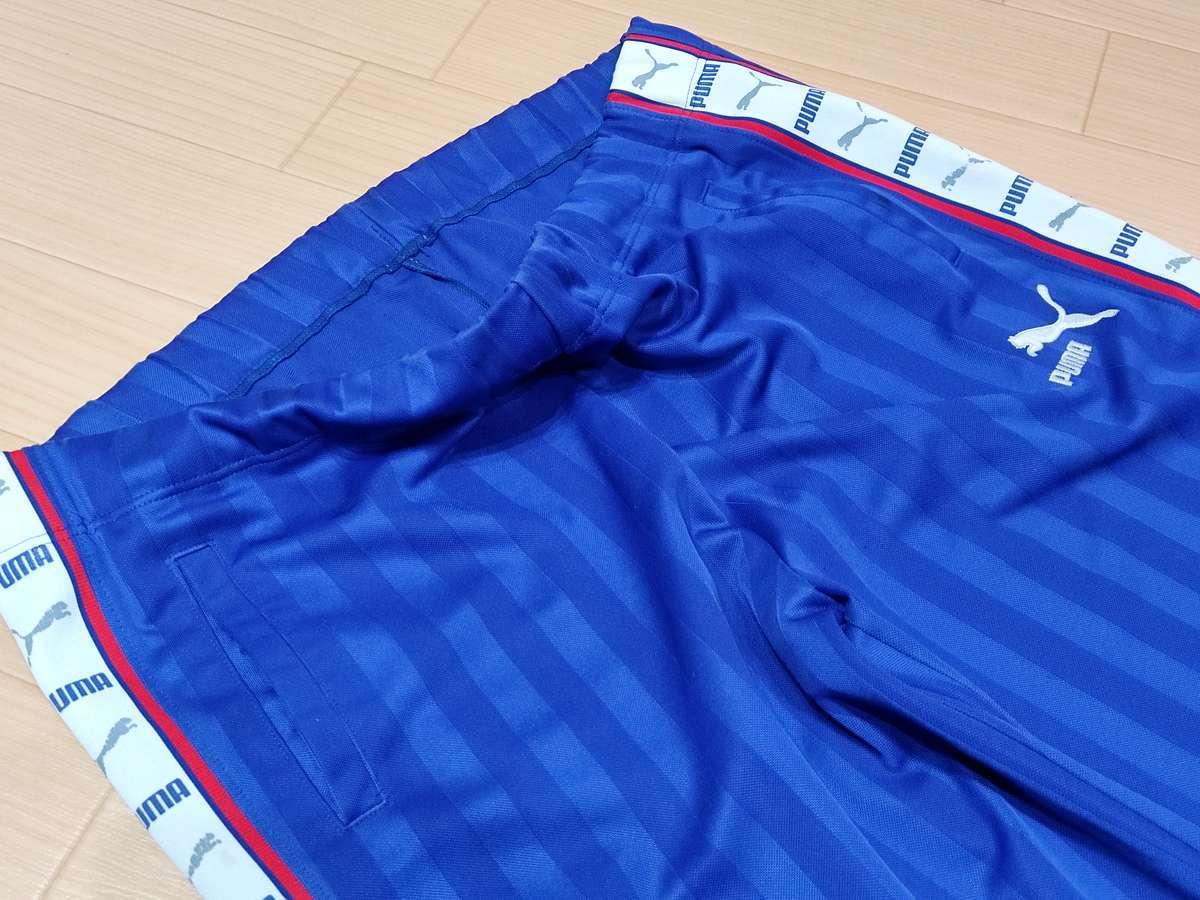 プーマ PUMA - サッカー フットサル USED ボトムス ジャージ ボトムス SIZE:M カラー:青系 高機能高デザイン_画像1