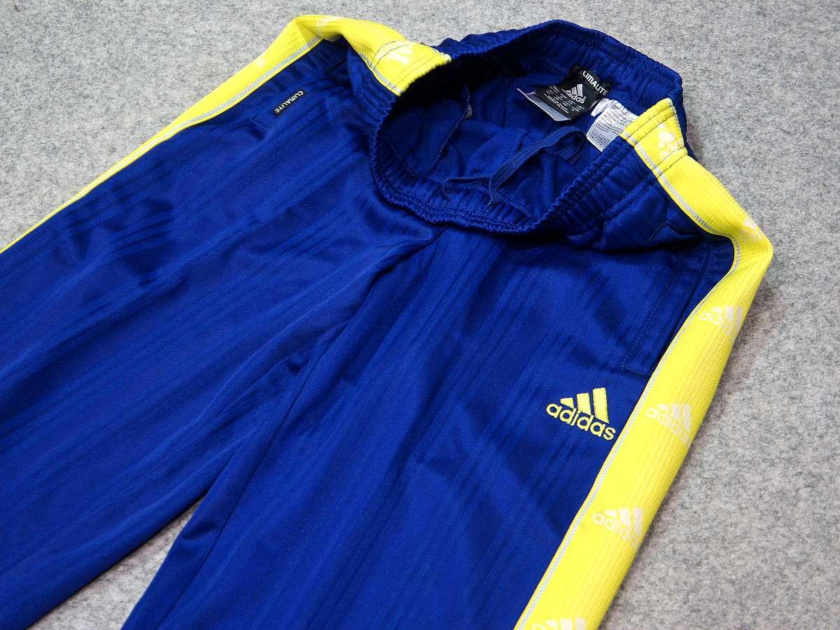 アディダス adidas - サッカー フットサル USED美品 ボトムス ジャージ - SIZE:150 カラー:青系 高機能高デザイン_画像2