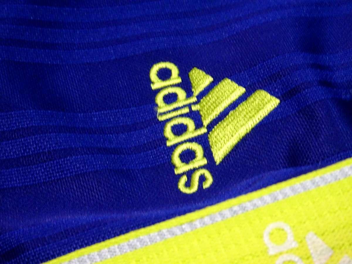 アディダス adidas - サッカー フットサル USED美品 ボトムス ジャージ - SIZE:150 カラー:青系 高機能高デザイン_画像4
