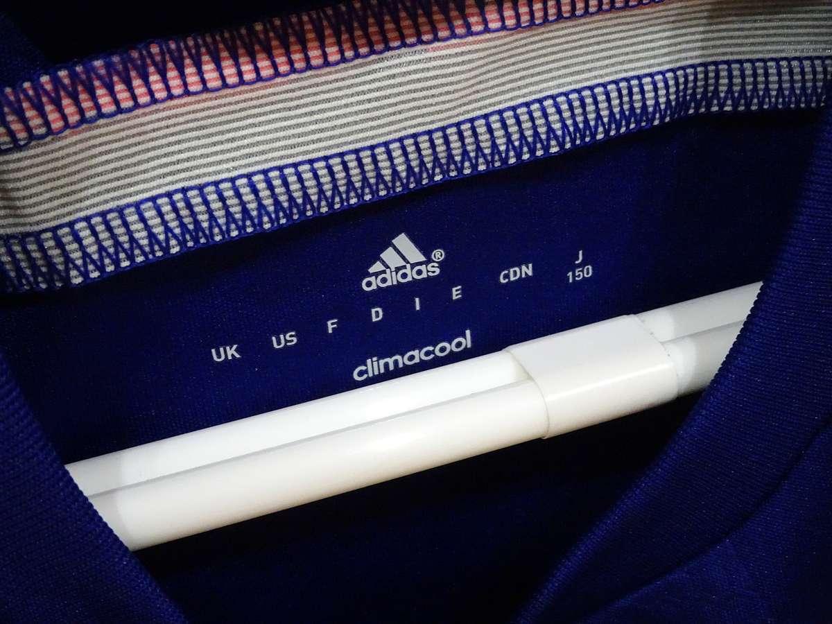 アディダス adidas - サッカー フットサル USED美品 半袖 ユニフォーム 日本代表 SIZE:150 カラー:紺系 高機能高デザイン_画像5