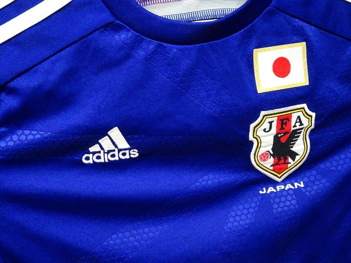 アディダス adidas - サッカー フットサル USED美品 半袖 ユニフォーム 日本代表 SIZE:150 カラー:紺系 高機能高デザイン_画像4
