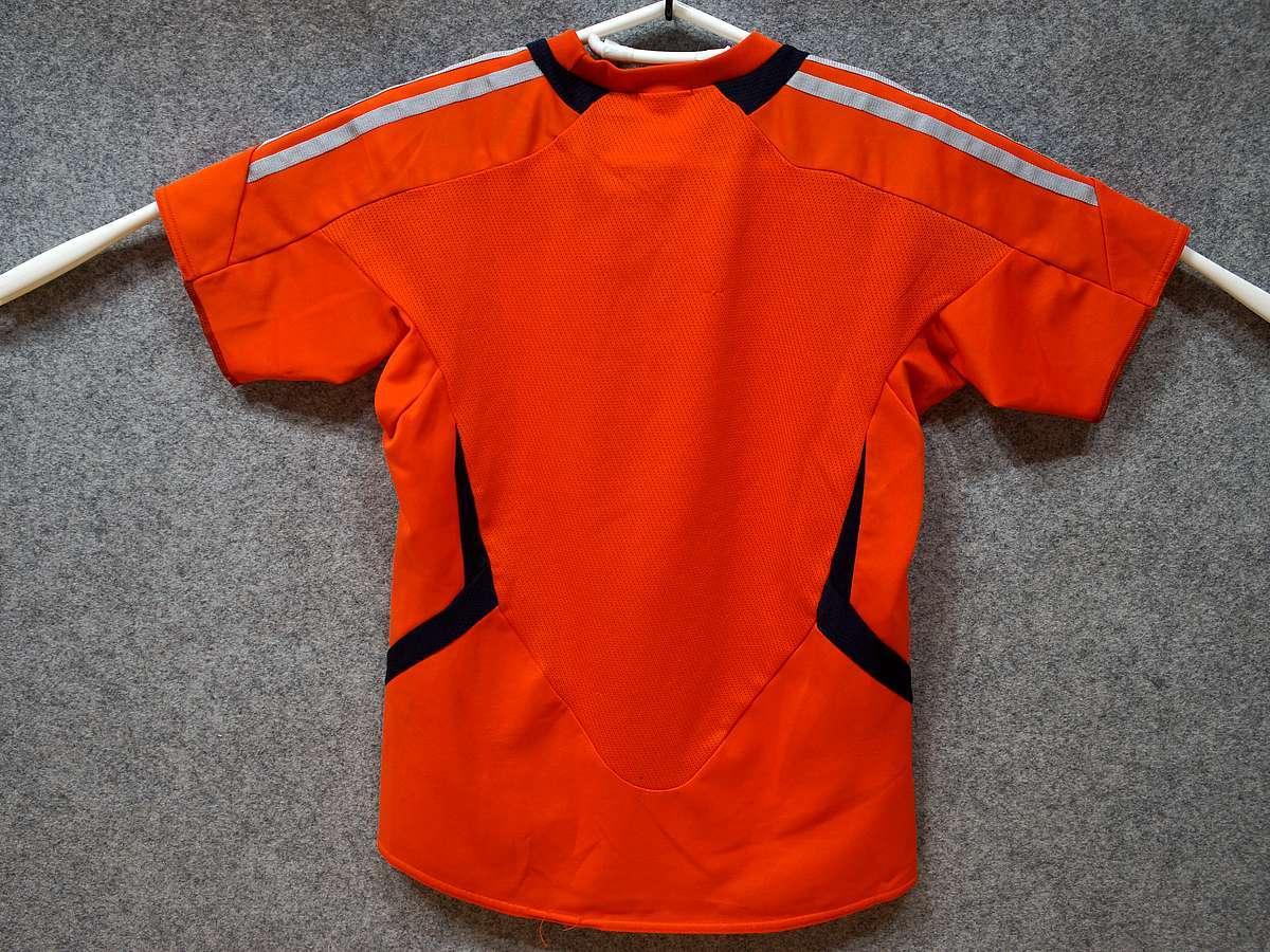 アディダス adidas - サッカー フットサル USED美品 半袖 ユニフォーム 練習着 SIZE:150 カラー:オレンジ系 かっこいい!_画像3