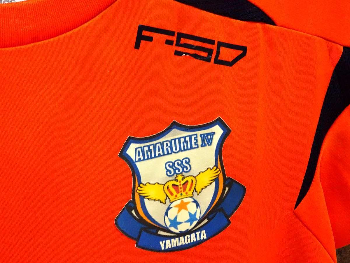 アディダス adidas - サッカー フットサル USED美品 半袖 ユニフォーム 練習着 SIZE:150 カラー:オレンジ系 かっこいい!_画像5