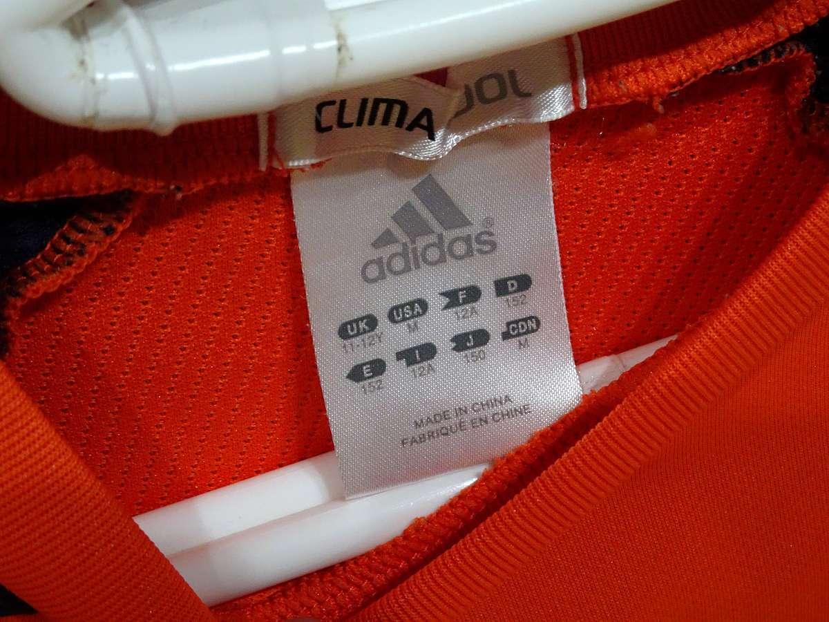 アディダス adidas - サッカー フットサル USED美品 半袖 ユニフォーム 練習着 SIZE:150 カラー:オレンジ系 かっこいい!_画像7