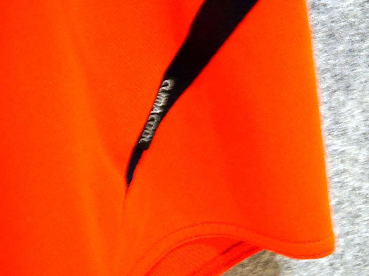 アディダス adidas - サッカー フットサル USED美品 半袖 ユニフォーム 練習着 SIZE:150 カラー:オレンジ系 かっこいい!_画像8