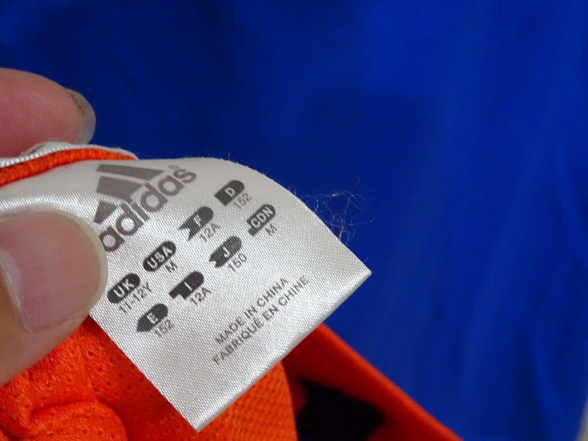 アディダス adidas - サッカー フットサル USED美品 半袖 ユニフォーム 練習着 SIZE:150 カラー:オレンジ系 かっこいい!_画像4