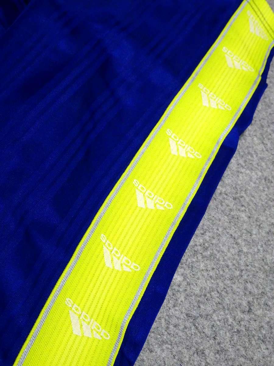 アディダス adidas - サッカー フットサル USED美品 ボトムス ジャージ - SIZE:150 カラー:青系 高機能高デザイン_画像7