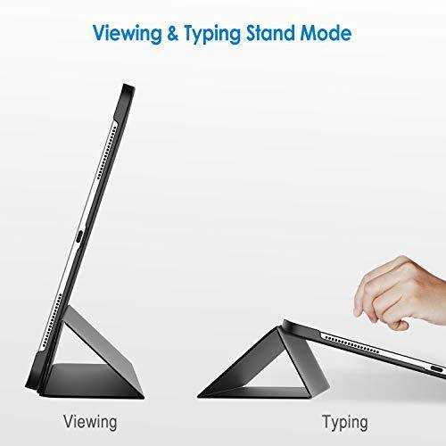 超お買い得色ブラック JEDirect iPad Pro 12.9インチ ケース 2018モデル (2020モデル非対応) 三つ折スタン_画像4