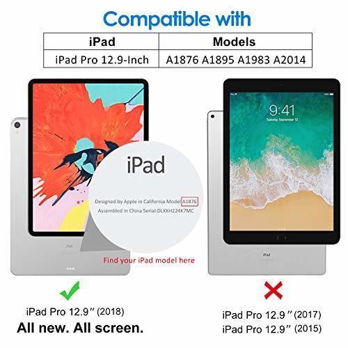 超お買い得色ブラック JEDirect iPad Pro 12.9インチ ケース 2018モデル (2020モデル非対応) 三つ折スタン_画像3