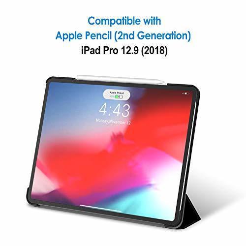 超お買い得色ブラック JEDirect iPad Pro 12.9インチ ケース 2018モデル (2020モデル非対応) 三つ折スタン_画像2