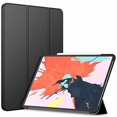 超お買い得色ブラック JEDirect iPad Pro 12.9インチ ケース 2018モデル (2020モデル非対応) 三つ折スタン_画像1