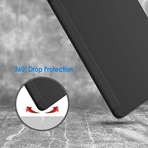 超お買い得色ブラック JEDirect iPad Pro 12.9インチ ケース 2018モデル (2020モデル非対応) 三つ折スタン_画像6