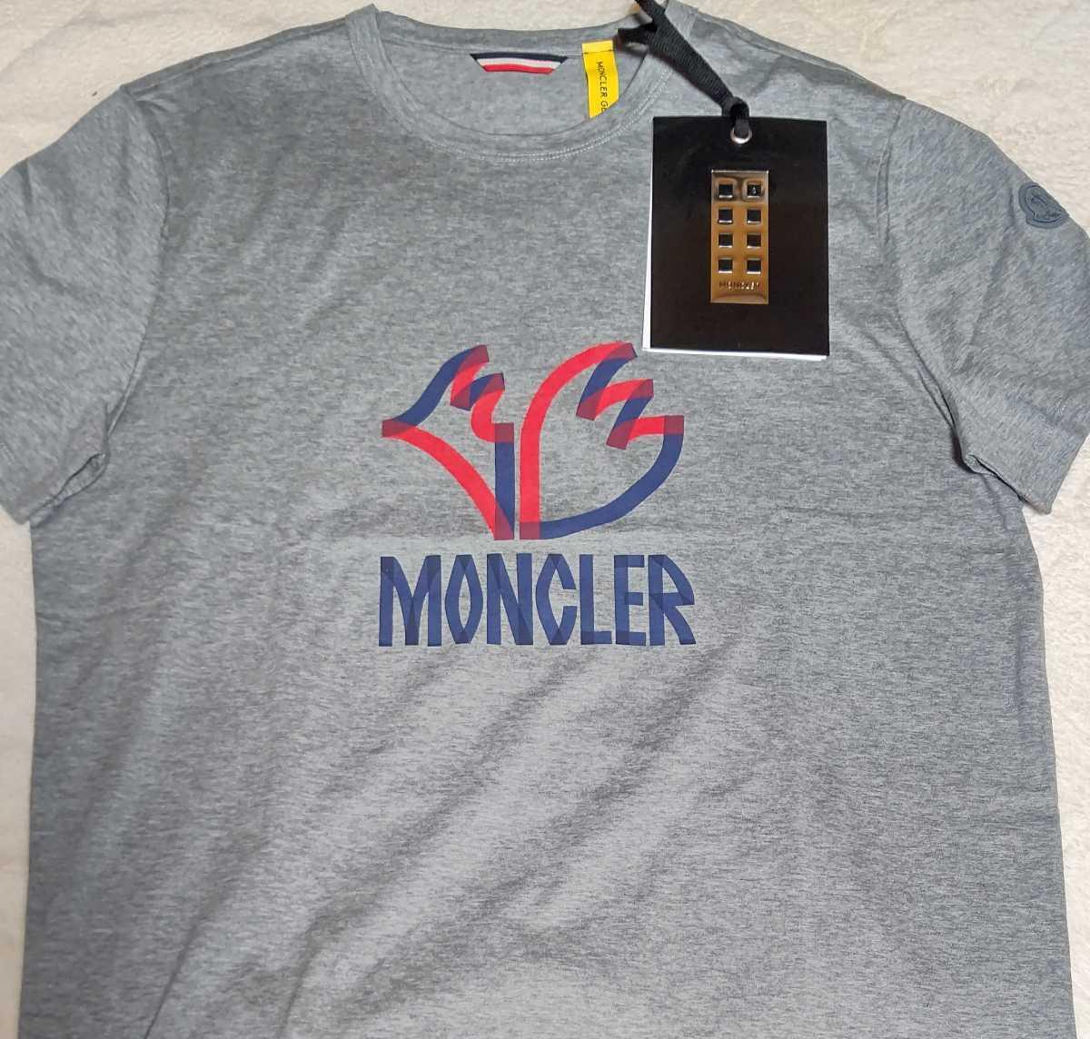 1円 2MONCLER GENIUS 1952 新品未使用 Logo Mens Tee 海外限定 2モンクレール ジーニアス 1952 半袖 Tシャツ 海外メンズLサイズ 高品質