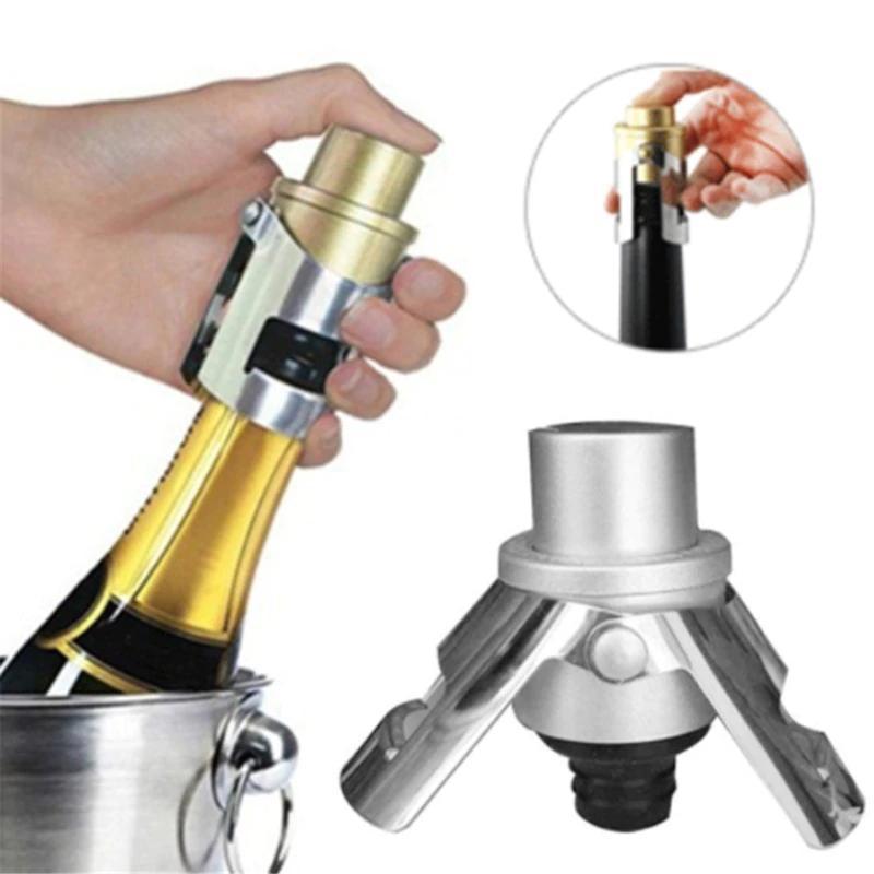 シールボトルキャップワインビールボトルコルクプラグステンレス鋼シャンパンスパークリングストッパーワインボトルストッパーバーツール_画像1