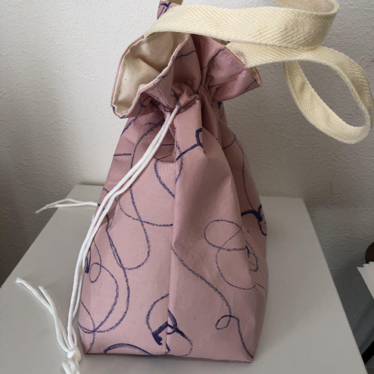 ハンドメイド  巾着バッグ