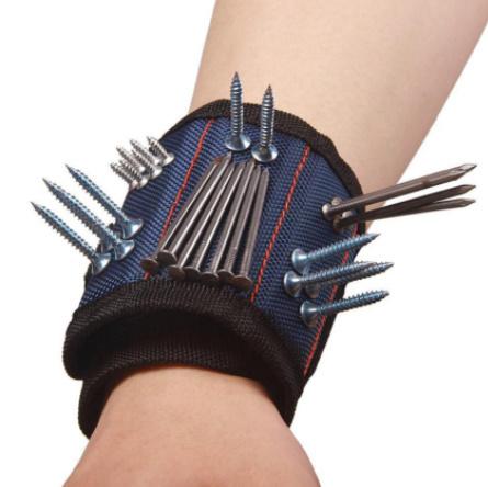 Mz3278:オックスフォード布 磁気ブレスレット 磁気リストバンドポケットツール ベルトポーチバッグ ネジ保持 作業ヘルパー_画像6