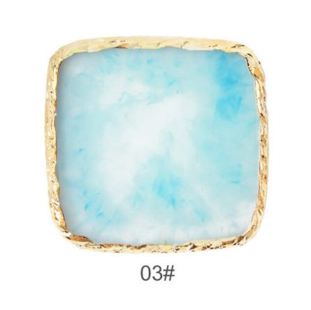 Mz3288:1 PC 天然樹脂ネイルアートカラーパレット アクリルホルダー 描画色ペイント皿のり DIY ディスプレイパレットツール_カラー(3)