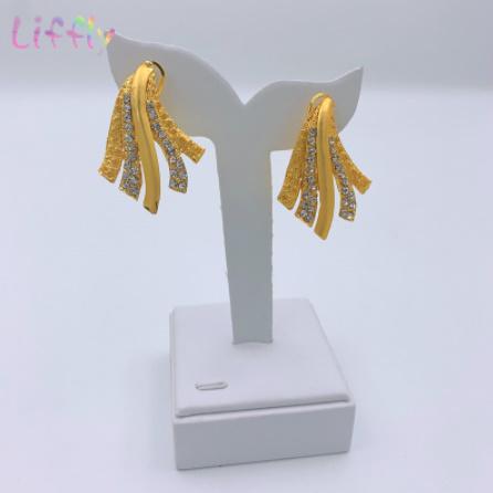 Mp3504:アフリカンブライダルドバイジュエリーセット クリスタルビッグネックレス イヤリング リング ブレスレット 女性_画像5