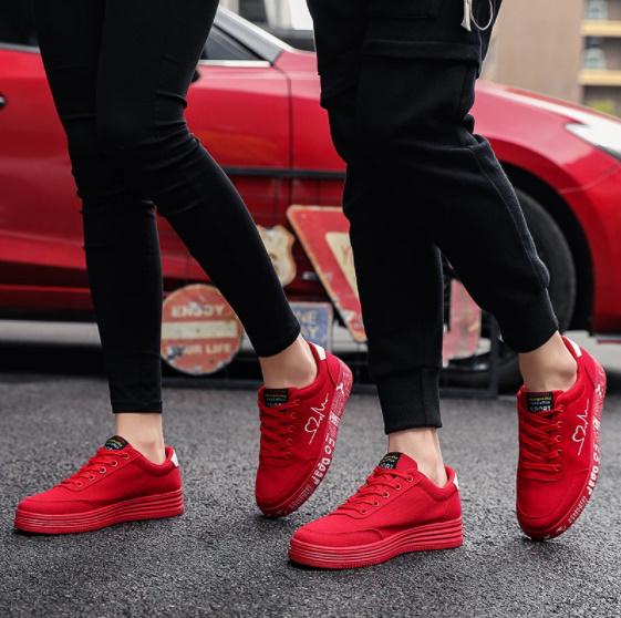 Pn062:ファッション 女性 靴 スニーカー レディース レースアップ カジュアル シューズ キャンバス ラバー シューズ グラフィティ フラット_画像5