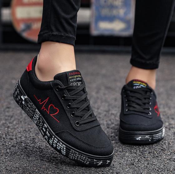 Pn062:ファッション 女性 靴 スニーカー レディース レースアップ カジュアル シューズ キャンバス ラバー シューズ グラフィティ フラット_カラー(1)