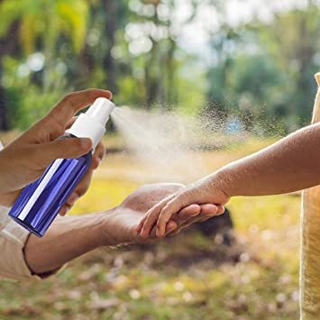 50ml ブルー 5本セット Vifflyスプレーボトル 遮光 アルコール対応 スプレー容器 空容器 霧吹き 詰替ボトル ブルー_画像5