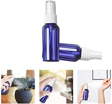 50ml ブルー 5本セット Vifflyスプレーボトル 遮光 アルコール対応 スプレー容器 空容器 霧吹き 詰替ボトル ブルー_画像4