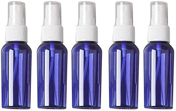 50ml ブルー 5本セット Vifflyスプレーボトル 遮光 アルコール対応 スプレー容器 空容器 霧吹き 詰替ボトル ブルー_画像1