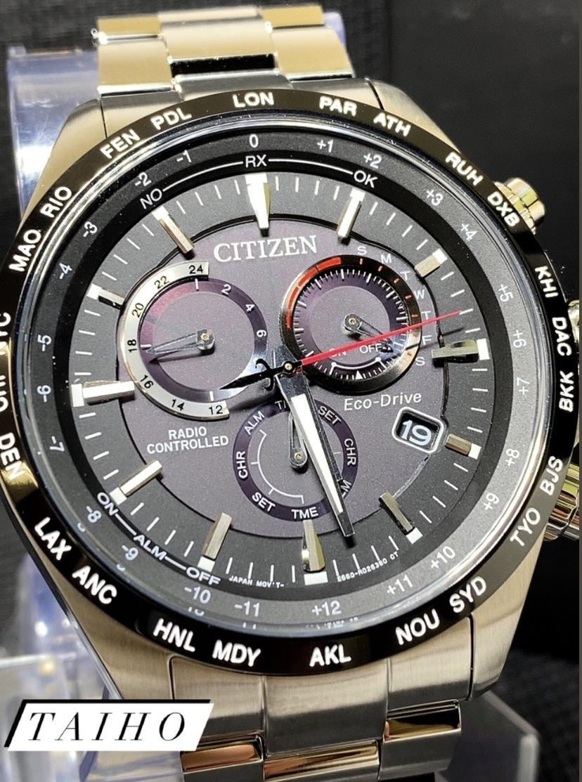 新品 CITIZEN シチズン 正規品 腕時計 エコドライブ 電波時計 クロノグラフ CB5838-85E サファイアクリスタルガラス RADIO CONTROLLED