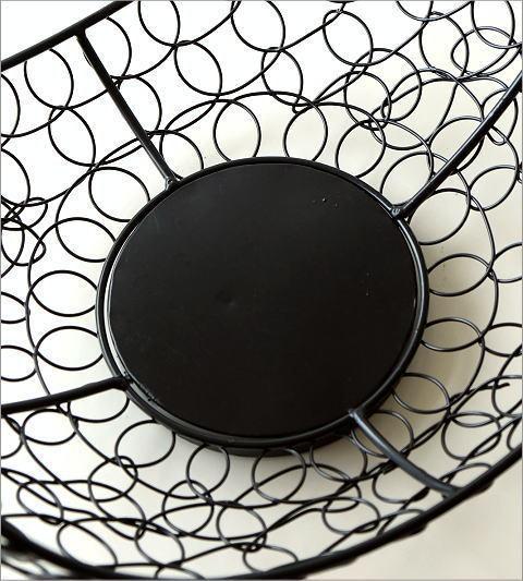 かご カゴ バスケット 収納 アイアン 小物入れ 花鉢 ガーデニング アイアンバスケット 2サイズセット 送料無料(一部地域除く) ebn2415_画像4