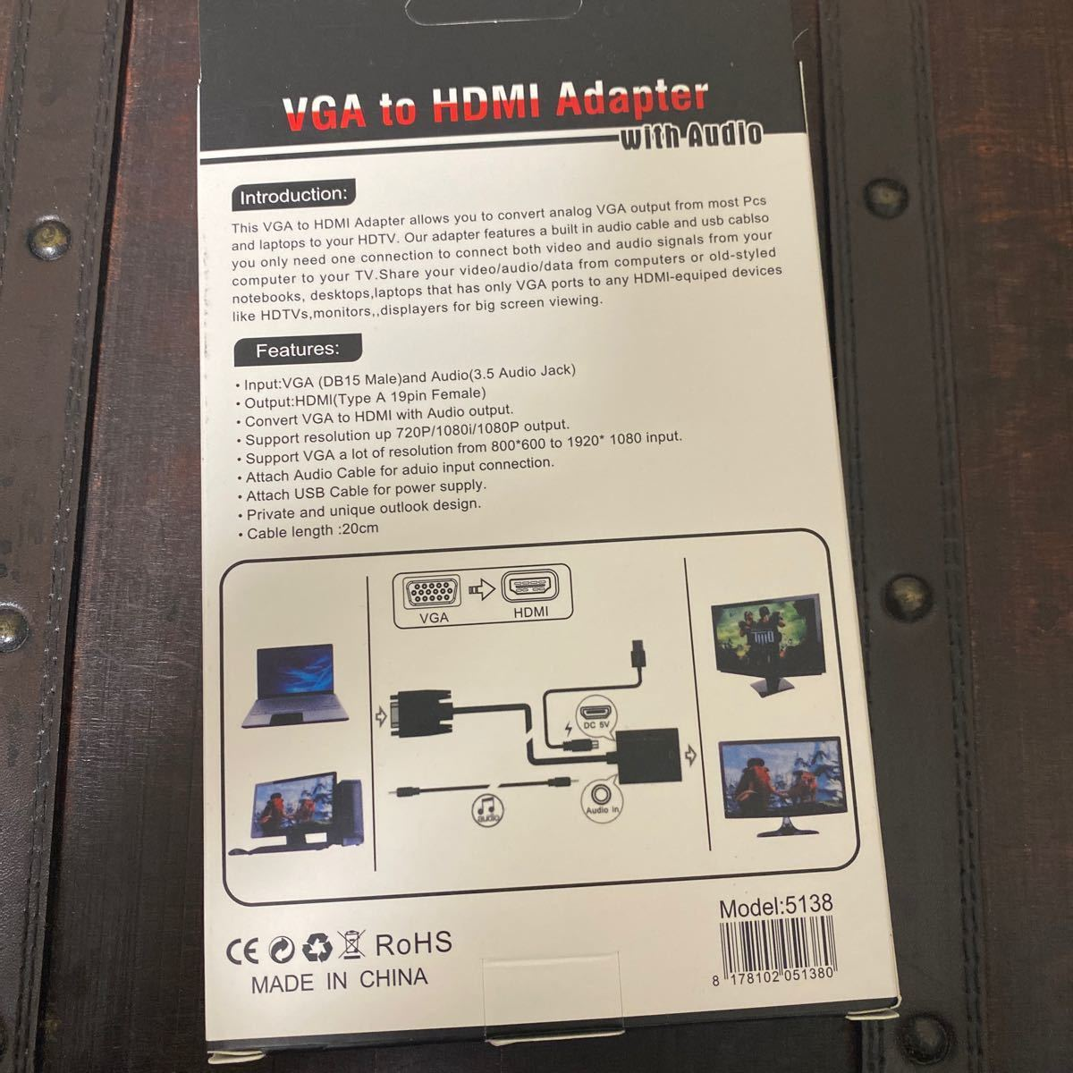 VGA TO HDMI adapter with audio