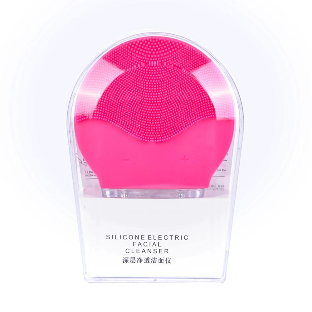 超音波 毛穴 美顔器 ピーリング 強力振動電気洗顔ブラシシリコーン sonic 洗顔ブラシきび除去クリーナー充電式_画像9