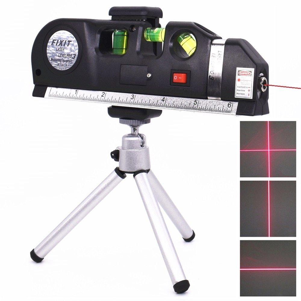 レーザー 光学測定器 墨出し器 高精度 レーザー墨出し器メジャーテープ調整多機能標準定規水平クロスライン三脚_画像1