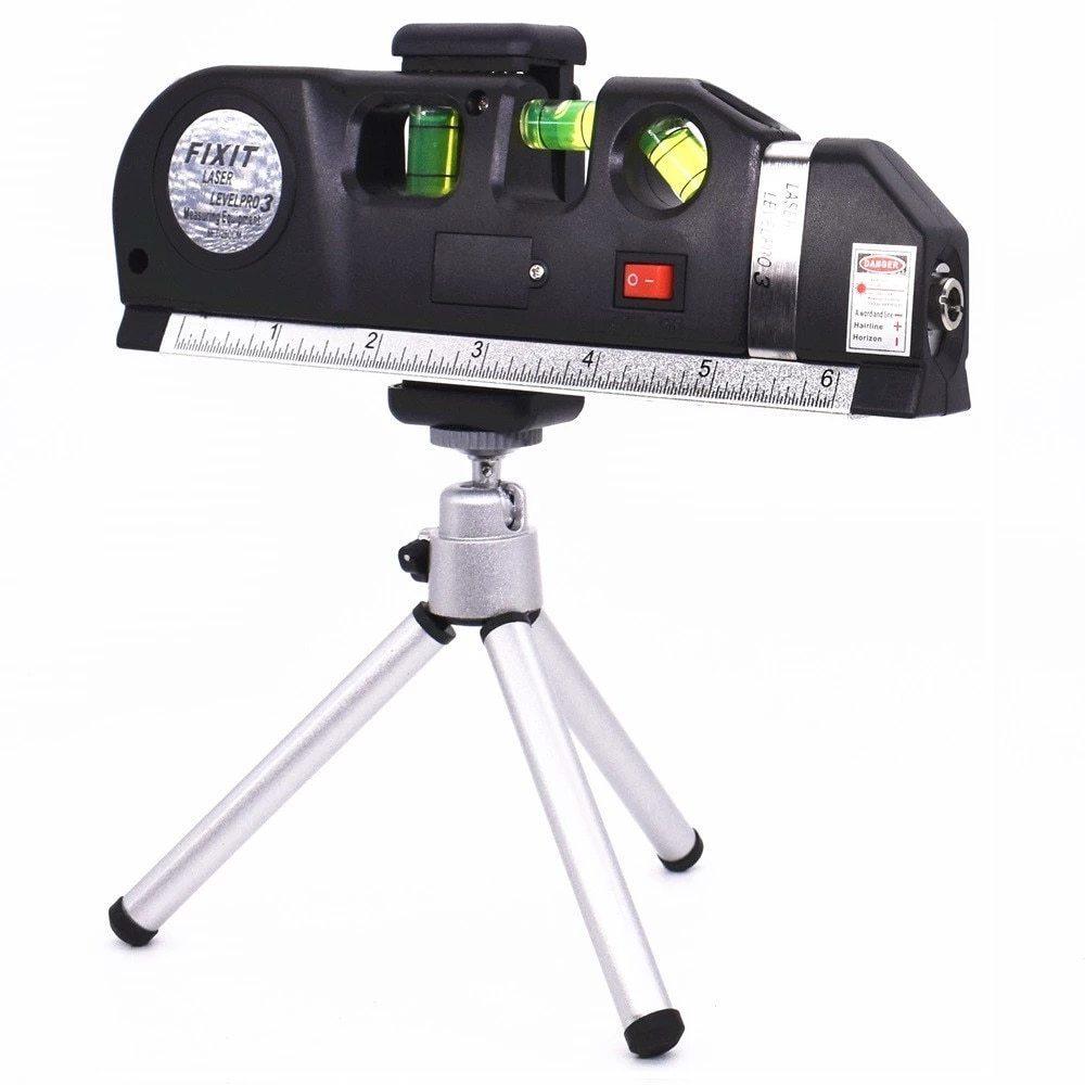レーザー 光学測定器 墨出し器 高精度 レーザー墨出し器メジャーテープ調整多機能標準定規水平クロスライン三脚_画像7