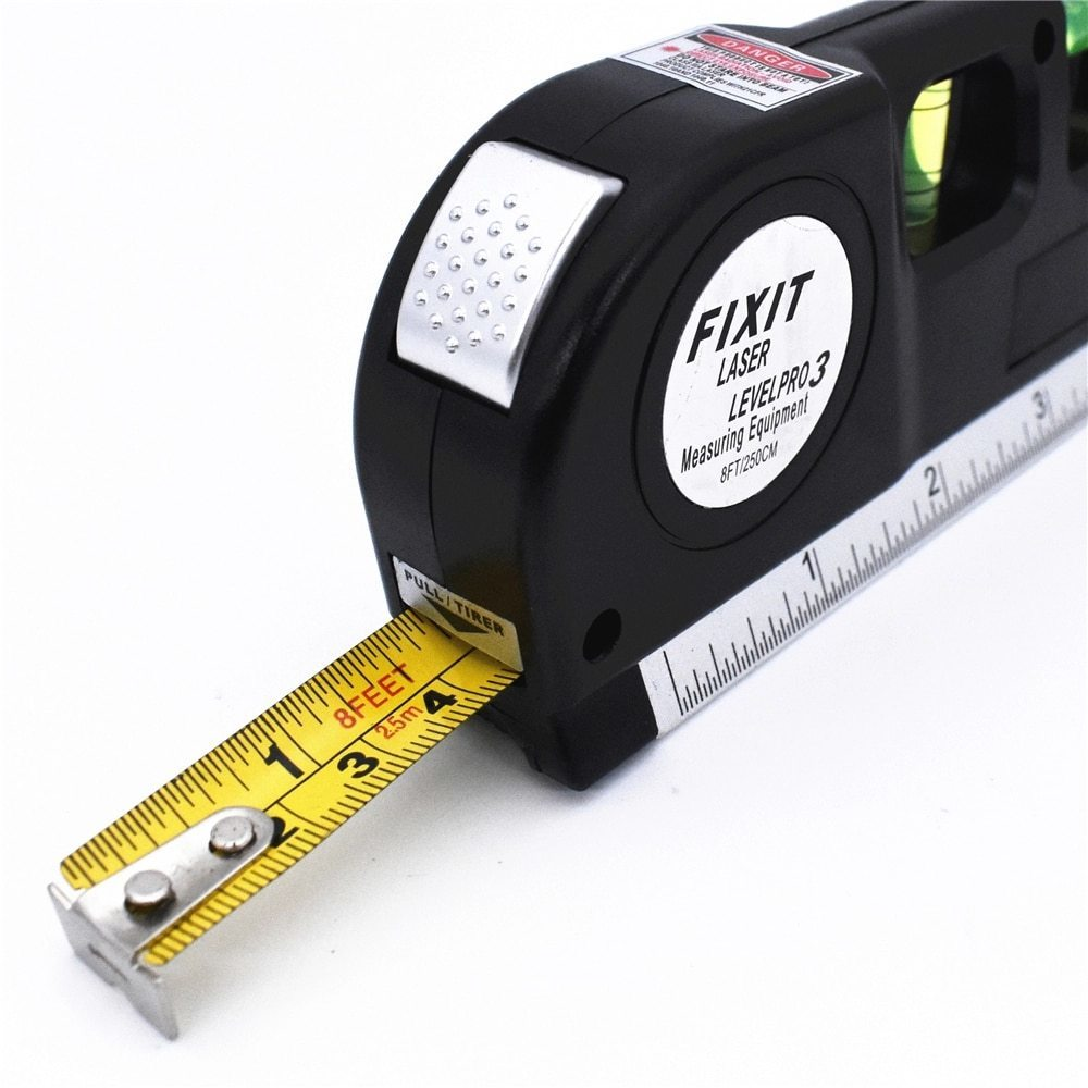 レーザー 高精度 墨出し器 光学測定器 水平レーザー墨出し器テープ調節可能多機能標準定規クロスライン測定器三脚_画像4