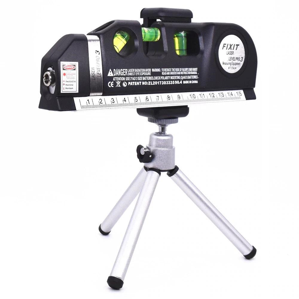 レーザー 高精度 墨出し器 光学測定器 水平レーザー墨出し器テープ調節可能多機能標準定規クロスライン測定器三脚_画像7