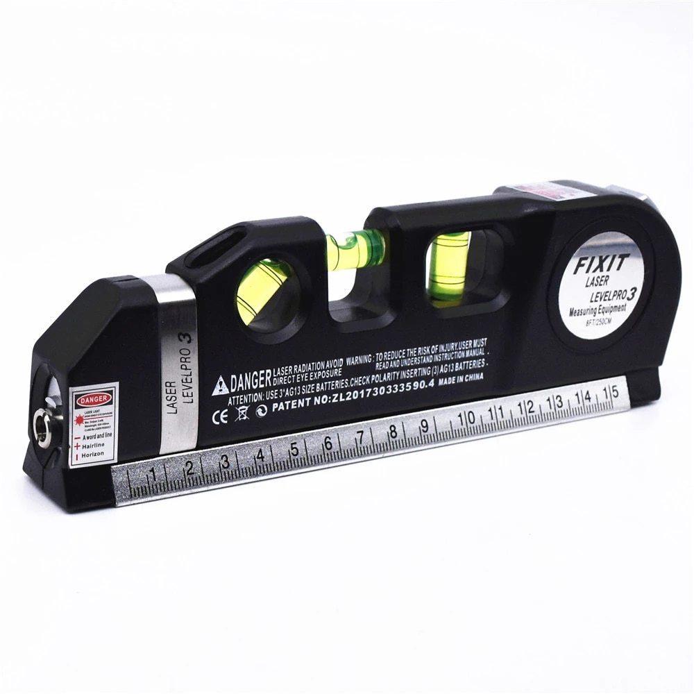 レーザー 高精度 墨出し器 光学測定器 水平レーザー墨出し器テープ調節可能多機能標準定規クロスライン測定器三脚_画像8