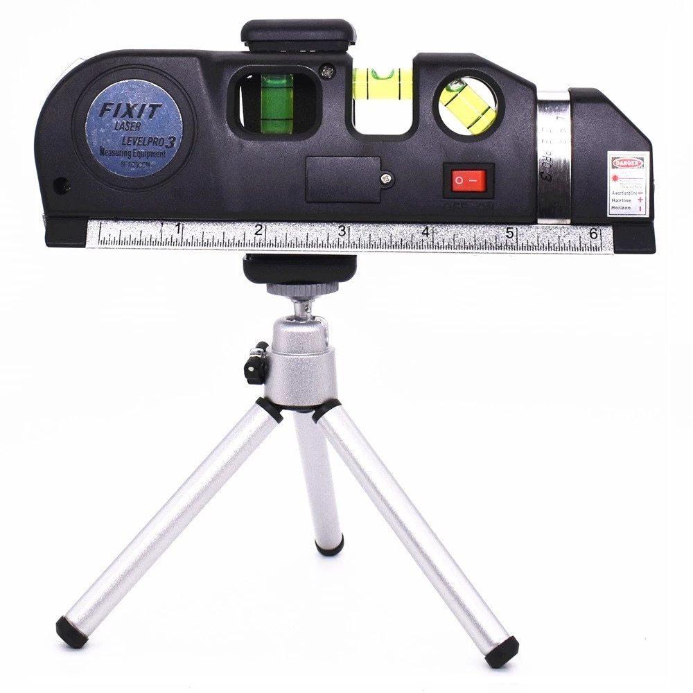 墨出し器 レーザー 高精度 光学測定器 レーザー墨出し器メジャーテープ水平レーザー調整多機能標準定規クロスライン三脚_画像7