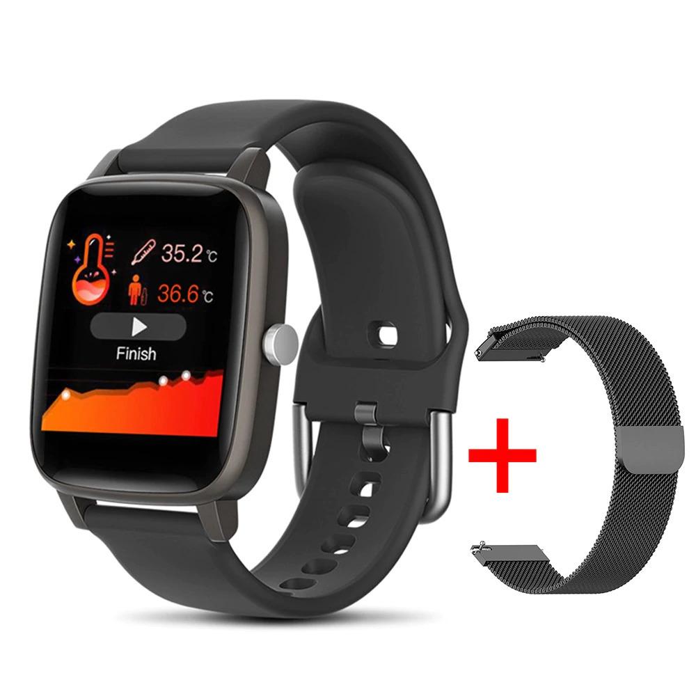 ブレスレット スマートバンド 新品 体温測定 T68T98スマート腕時計体温測定心拍数血圧酸素モニタースマートリストバンドスポーツ_画像2