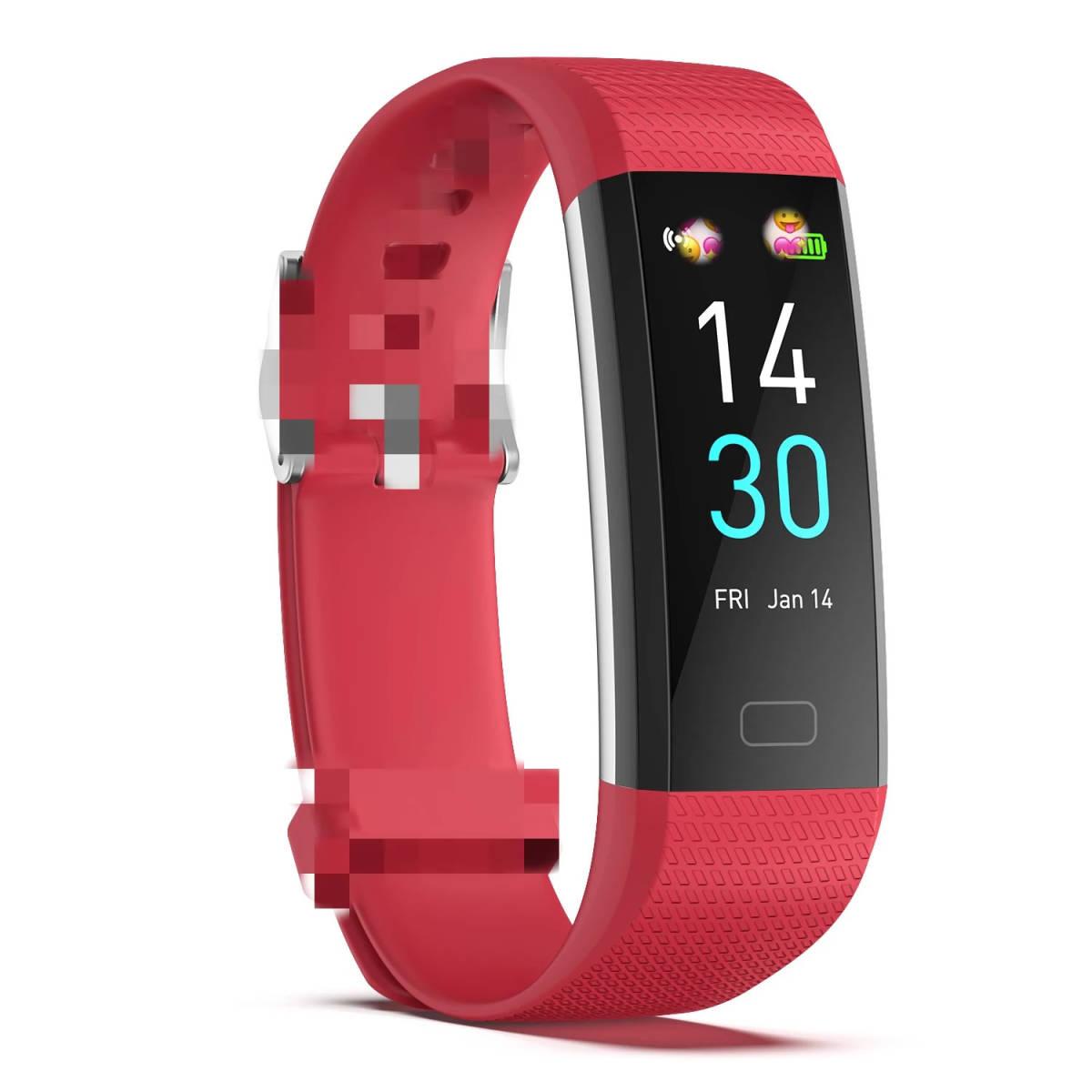 スマートバンド ブレスレット 体温測定 新品 S5スポーツスマート腕時計心拍数血圧と体温計測IP68防水ブレスレット男性 女性_画像9